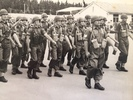 Burnham Camp 1964, Sgt John Henry Knap with National Servicemen on a March Out parade. Image kindly provided by John Knap (May 2019). Image is subject to copyright restrictions.