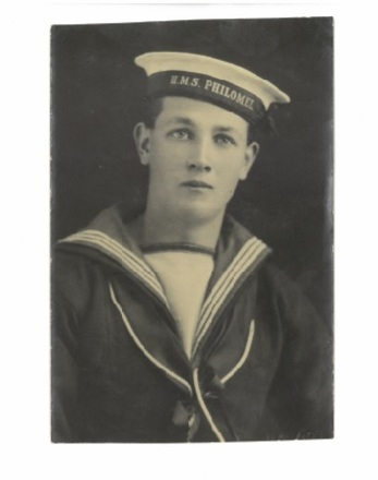 Photograph of Able Seaman Noel L Stent on his wedding day in 1927. Image kindly provided by Richard Stent (May 2019). Image has no known copyright restrictions.