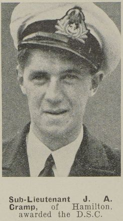 Portrait of Sub Lieutenant J.A. Hamilton, Auckland Weekly News, 21 October 1942. Auckland Libraries Heritage Collections AWNS-19421021-19-7. Image has no known copight restrictions.