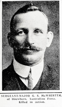 Portrait of Sergeant Major Samuel George McWhirter, Auckland Weekly News, 4 November 1915. Auckland Libraries Heritage Collections AWNS-19151104-39-11. Image has no known copyright restrictions.