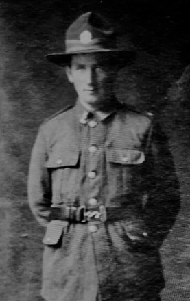 Photograph of Rifleman Thomas Anderson 58720. Image kindly povided by Scott Anderson (July 2019). Image has no known copyright restrictions.
