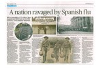 Photograph of 'A Nation ravaged by Spanish flu' published in the Dominion Post, 16 December 2017. Image kindly provided by Bernice Brooks (July 2019). Image may be subject to copyright restrictions.