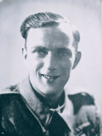 Portrait of Bruce Eric Clements, c.Second World War. Image kindly provided by Alison Clements (July 2019). Image may be subject to copyright restrictions.