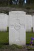Headstone of Gunner Geoffrey William Davies (17178). Coxyde Military Cemetery, Koksijde, West-Vlaanderen, Belgium. New Zealand War Graves Trust (BEAX6913). CC BY-NC-ND 4.0.