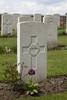 Headstone of Private Ernest John Julius Holz (39535). Motor Car Corner Cemetery, Comines-Warneton, Hainaut, Belgium. New Zealand War Graves Trust (BECW8693). CC BY-NC-ND 4.0.