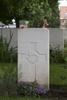 Headstone of Rifleman John Allan Robertson (39424). Belgian Battery Corner Cemetery, Ieper, Belgium. New Zealand War Graves Trust (BEAI0730). CC BY-NC-ND 4.0.