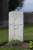 Headstone of Gunner Allan Gerald Arrow (42913). Divisional Cemetery, Ieper, West-Vlaanderen, Belgium. New Zealand War Graves Trust (BEAZ1074). CC BY-NC-ND 4.0.