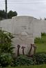 Headstone of Lance Corporal Eric Axel Carl Johanes Ericksen (30191). Haringhe (Bandaghem) Military Cemetery, Poperinge, West-Vlaanderen, Belgium. New Zealand War Graves Trust (BEBP2186). CC BY-NC-ND 4.0.
