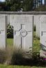 Headstone of Rifleman Harold Parkinson (48069). Menin Road South Military Cemetery, Ieper, West-Vlaanderen, Belgium. New Zealand War Graves Trust (BECR0806). CC BY-NC-ND 4.0.