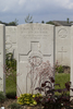 Headstone of Lance Corporal Richard William Paul Nederick Rintoul (33610). Nine Elms British Cemetery, Poperinge, West-Vlaanderen, Belgium. New Zealand War Graves Trust (BEDA9592). CC BY-NC-ND 4.0.