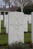 Headstone of Private Arthur Harry Tidey (42597). Hooge Crater Cemetery, Ieper, West-Vlaanderen, Belgium. New Zealand War Graves Trust (BEBS6805). CC BY-NC-ND 4.0.