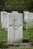 Headstone of Second Lieutenant Andrew Stevenson Thompson (12/886). London Rifle Brigade Cemetery, Comines-Warneton, Hainaut, Belgium. New Zealand War Graves Trust (BECO0947). CC BY-NC-ND 4.0.