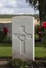 Headstone of Gunner Cornelius Frederick Bowe (2/1756). St Quentin Cabaret Military Cemetery, Heuvelland, West-Vlaanderen, Belgium. New Zealand War Graves Trust (BEEA2366). CC BY-NC-ND 4.0.