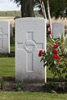 Headstone of Second Lieutenant Albert Victor Young (1/11). St Quentin Cabaret Military Cemetery, Heuvelland, West-Vlaanderen, Belgium. New Zealand War Graves Trust (BEEA2391). CC BY-NC-ND 4.0.