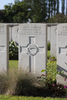 Headstone of Rifleman Harold Parkinson (48069). Menin Road South Military Cemetery, Ieper, West-Vlaanderen, Belgium. New Zealand War Graves Trust (BECR0839). CC BY-NC-ND 4.0.