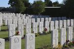 Headstone of Rifleman Norman Percival Brown (12122). White House Cemetery, Ieper, West-Vlaanderen, Belgium. New Zealand War Graves Trust (BEET1583). CC BY-NC-ND 4.0.