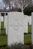 Headstone of Private Arthur Harry Tidey (42597). Hooge Crater Cemetery, Ieper, West-Vlaanderen, Belgium. New Zealand War Graves Trust (BEBS6806). CC BY-NC-ND 4.0.