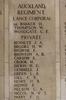 Headstone of Private James Alfred Bennett (52129). Buttes New British Cemetery (N.Z.) Memorial, Polygon Wood, Zonnebeke, West-Vlaanderen, Belgium. New Zealand War Graves Trust (BEAQ6282). CC BY-NC-ND 4.0.