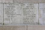 Headstone of Corporal Eric Robert Irving Croker (39027). Messines Ridge (N.Z.) Memorial, Mesen, West-Vlaanderen, Belgium. New Zealand War Graves Trust (BECS5999). CC BY-NC-ND 4.0.