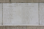 Headstone of Rifleman Raymond Leslie Edwards (31832). Messines Ridge (N.Z.) Memorial, Mesen, West-Vlaanderen, Belgium. New Zealand War Graves Trust (BECS5992). CC BY-NC-ND 4.0.