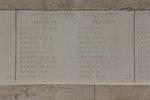 Headstone of Private William John Hall (33356). Messines Ridge (N.Z.) Memorial, Mesen, West-Vlaanderen, Belgium. New Zealand War Graves Trust (BECS5984). CC BY-NC-ND 4.0.