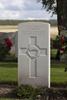 Headstone of Gunner Cornelius Frederick Bowe (2/1756). St Quentin Cabaret Military Cemetery, Heuvelland, West-Vlaanderen, Belgium. New Zealand War Graves Trust (BEEA2367). CC BY-NC-ND 4.0.
