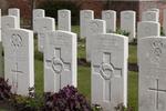 Headstone of Lance Corporal Cecil Frank Booth (21485). Voormezeele Enclosure, West Vlaanderen, Belgium. New Zealand War Graves Trust (BEEL7561). CC BY-NC-ND 4.0.