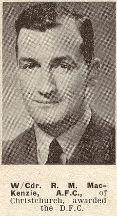 Portrait of Wing Commander Russell Merriman MacKenzie, Auckland Weekly News, 24 November 1943. Auckland Libraries Heritage Collections AWNS-19431124-20-42. Image has no known copyright restrictions.
