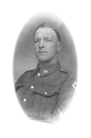 Photograph of Sergeant George Agnew 10748. Image kindly provided by Owen Phillips (August 2019). Image has no known copyright restrictions.