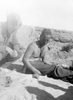 'Phil and the bint - tortoise', Western Desert, c. Second World War. From the collection of Arthur William (Moss) Squire 16770, 23 Battalion. Image kindly provided by Roger Sommerville (August 2019). Image may be subject to copyright copyright restrictions.
