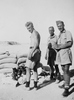Photograph of Leslie James Whittaker, Philip Kent (centre) and 'Milne' (possibly Allardyce Adam Milne - left), Western Desert, c.Second World War. From the collection of Arthur William (Moss) Squire 16770, 23 Battalion. Image kindly provided by Roger Sommerville (August 2019). Image may be subject to copyright copyright restrictions.