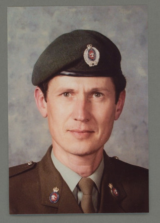 Portrait of Staff Sergeant Allan James Buist, Image kindly provided by serviceperson. Image may be subject to copyright restrictions.