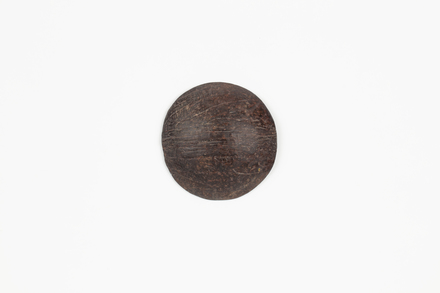coconut shell disc, 1969.94, 41240, Cultural Permissions Apply