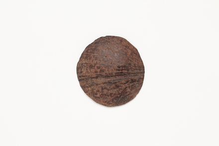 coconut shell disc, 1969.94, 41242, Cultural Permissions Apply