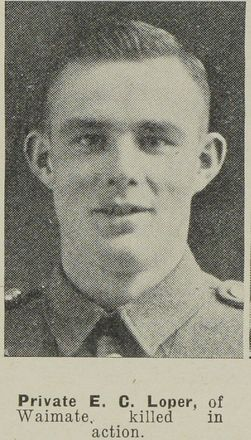 Portrait of Private Edwin Charles Loper, Auckland Weekly News, 14 October 1942. Auckland Libraries Heritage Collections AWNS-19421014-18-14. Image has no known copyright restrictions.