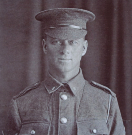 3/4 portrait of Corporal Charles Richardson 6/3443, c.First World War. Image kindly provided by A.J. Buist (November 2019). Image has no known copyright restrictions.