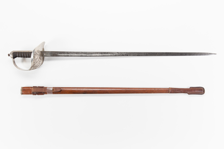 sword and scabbard, 1967.58, W1845, w2406, © Auckland Museum CC BY