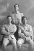 3/4 portrait of 3 Privates, Pitama, probably of the New Zealand Maori Pioneer Battalion. Wiremu Ata, Tiaka and Te Kirikaihau Pitama. Auckland Libraries Heritage Collections 31-P917. Herman Schmidt Collection.