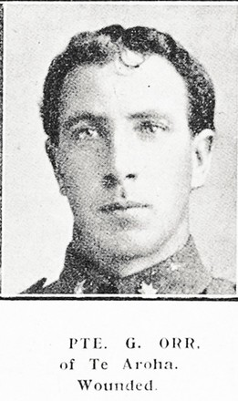 Portrait of Private George Orr, Auckland Weekly News, 17 August 1916. Auckland Libraries Heritage Collections AWNS-19160817-41-28. Image has no known copyright restrictions.