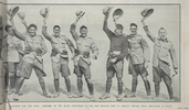 Hurrah for the King: members of the Maori Contingent in the New Zealand camp at Zeitoun before their departure to Malta. Sgt Waiheke Puha; Pte Tawhai Kohere (far right). Taken from the supplement to the Auckland Weekly News 27 May 1915 p043. No known Copyright.