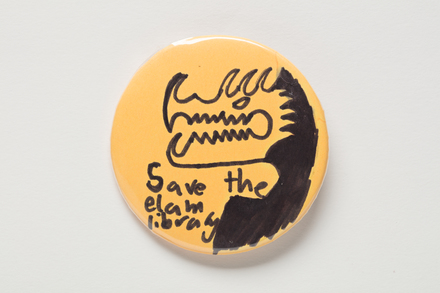 badge, protest, 2018.74.1, All Rights Reserved