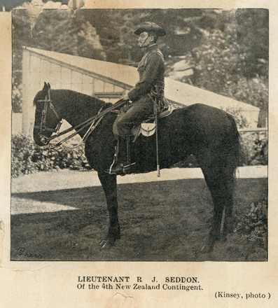 Photograph of Lieutenant Richard John Seddon, Weekly Press. Date unknown. Image has no known copyright restrictions.