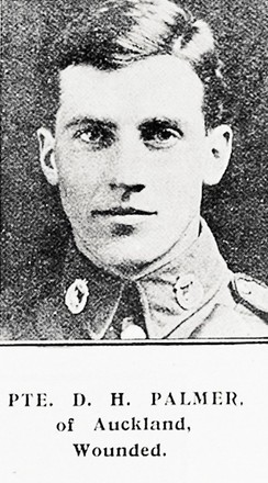 Portrait of Private David Hunter Palmer of Auckland. Image kindly provided by Auckland Libraries Heritage Collections AWNS-19170222-45-13. Image has no known copyright restrictions.