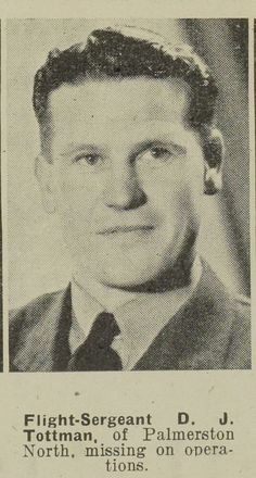 Flight Sergeant D. J. Tottman of Palmerston North. Auckland Libraries Heritage Collections AWNS-19430127-19-38. Image has no known copyright restrictions.