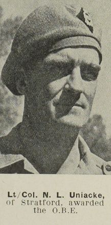 Portrait of Lieutenant Colonel Norman Lochmond Uniacke, Auckland Weekly News, 17 January 1945. Auckland Libraries Heritage Collections AWNS-19450117-26-34. Image has no known copyright restrictions.