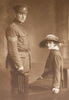 Daniel O'Connor and his wife Jean Tannahill/Tannyhill O'Connor nee Iverach. The couple married in 1916 just prior to Daniel's embarkation for service. Image kindly provided by Darian Zam (February 2020). Image has no known copyright restrictions.