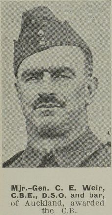 Portrait of Major General Stephen Cyril Ettrick Weir, Auckland Weekly News, 8 August 1945. Auckland Libraries Heritage Collections AWNS-19450808-26-25. Image is subject to copyright restrictions.