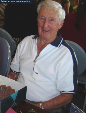 Photograph of Arthur Sidney Jarvis (Syd) on his 80th Birthday. Image kindly provided by grandson Aaron Jarvis (February 2020). Image may be subject to copyright restrictions.