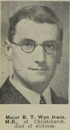 Portrait of Major Brian Tyrwhitt Wyn Irwin, Auckland Weekly News, 1 April 1942. Auckland Libraries Heritage Collections AWNS-19420401-24-9. Image has no known copyright restrictions.