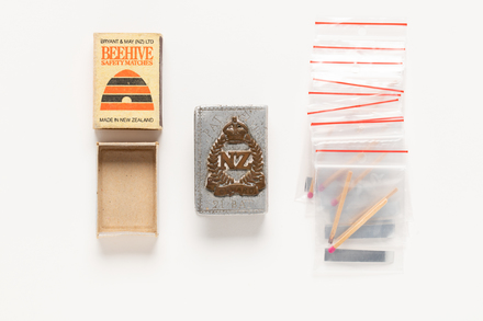 holder, matchbox, 2019.62.95, Photographed 06 Mar 2020, © Auckland Museum CC BY